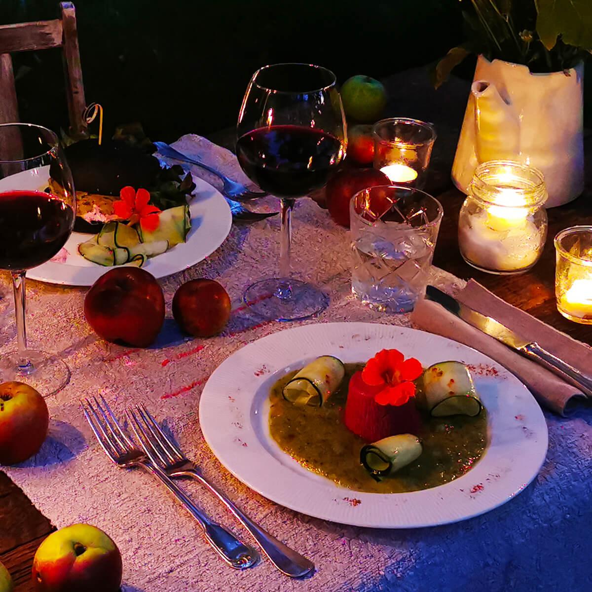 Cena nel giardino dell'Eden