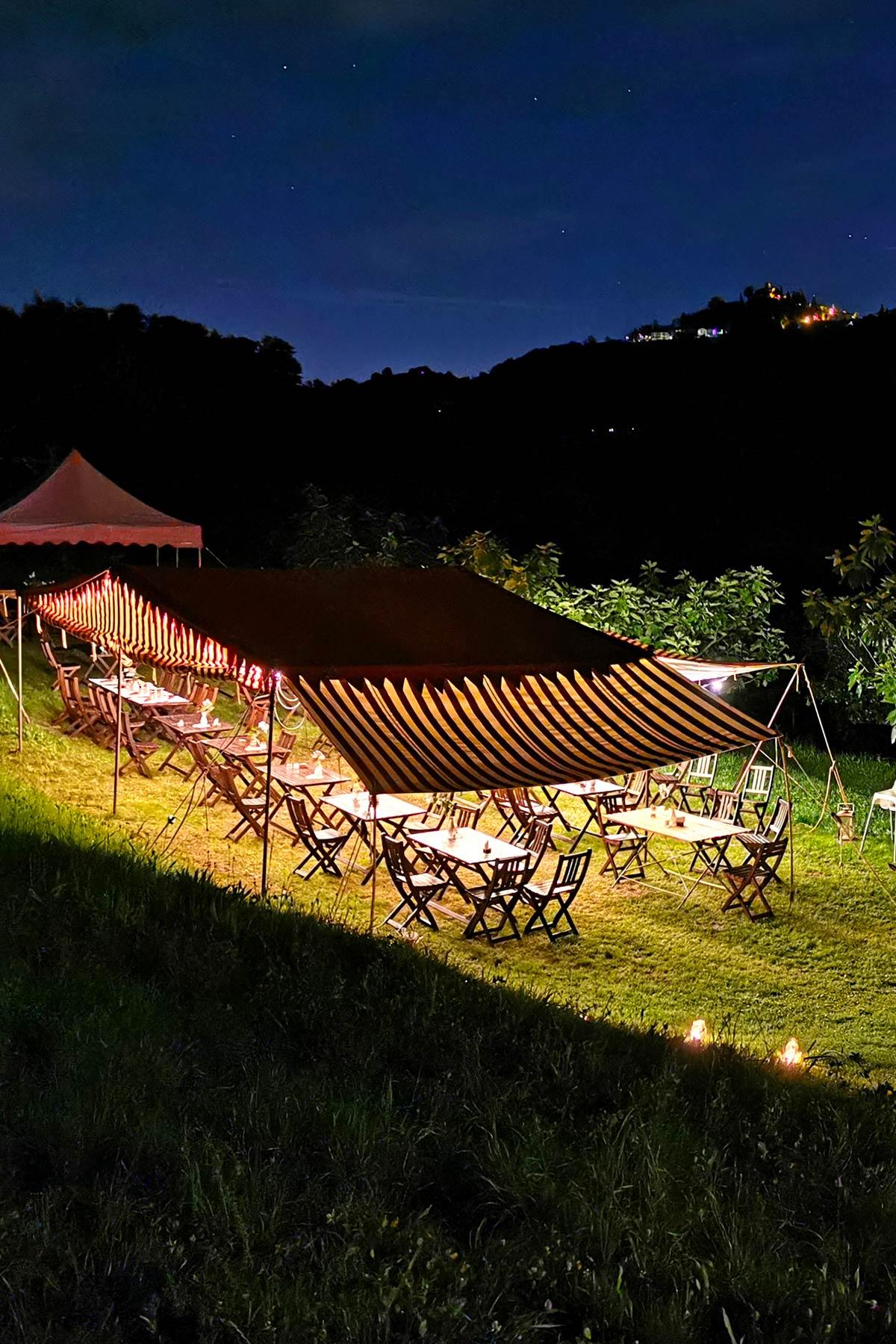 tenda notte